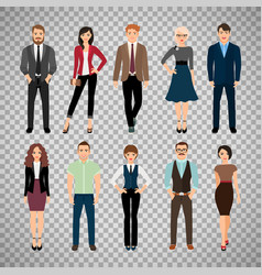 casual office people on transparent background vector image
