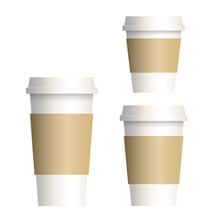 coffee cup 3 size vector image