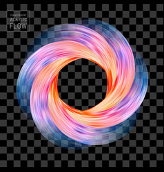colorful flow funnel universe brush stroke circle vector image