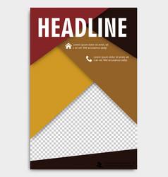 corporate brochure flyer design layout template vector image