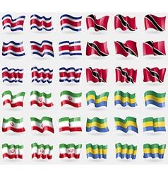 Costa Rica Trinidad and Tobago Iran Gabon Set of vector