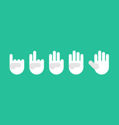 countdown referee hand in white gloves fingers vector image