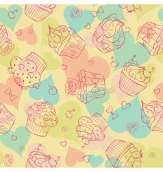 cupcake seam vector image