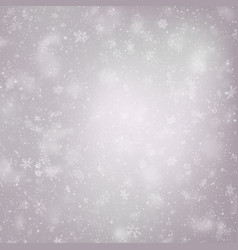 decorative winter card with white snowflakes eps vector image