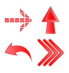 design of element and arrow icon set of vector image