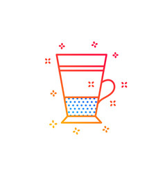 Double latte coffee icon hot drink sign vector