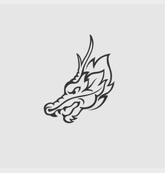 dragon logo design vector image