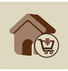 E-commerce store web page icon digital vector