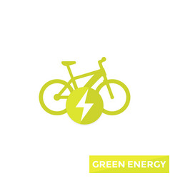 Electric bicycle e-bike icon vector