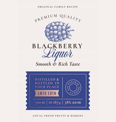 family recipe blackberry liquor acohol label vector image