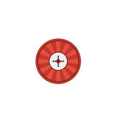 flat icon casino element of vector image