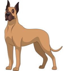 Funny purebred german dog vector