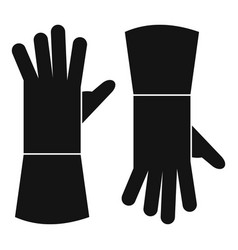 garden gloves icon simple style vector image
