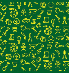 garden tools pattern vector image