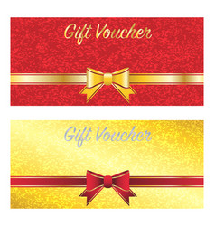 gold and red gift voucher card vector image