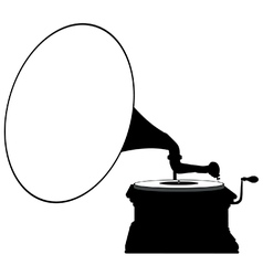 Gramophone silhouette vector image