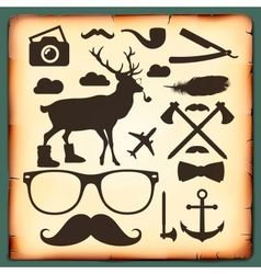 Hipster style infographics elements for retro vector