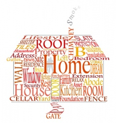 home words vector image