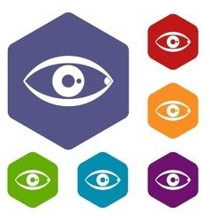 Human eye icons set vector