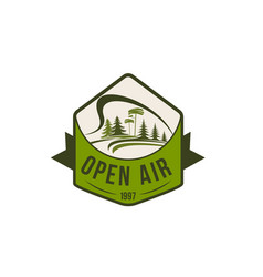 icon of open air nature environment vector image