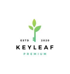 Key leaf logo icon vector