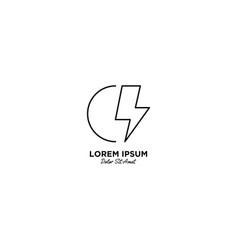 Letter c flash logo design vector