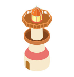 lighthouse sea icon isometric 3d style vector image