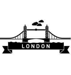 London tower bridge linear vector