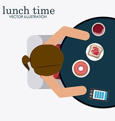 lunch time desing vector image