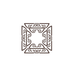 luxury ornament logo template vector image