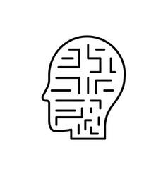 mechanism robot man icon - artificial vector image
