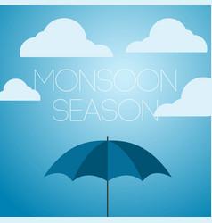 Monsoon season april showers template design icon vector
