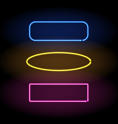 neon frame colorful set vector image