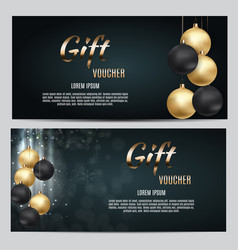 New year and christmas gift voucher template vector