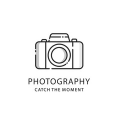 photography logo sign photo camera emblem vector image