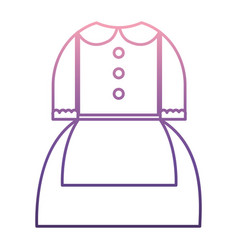 Pilgrim costume icon vector