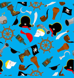 pirate seamless pattern piratical accessory vector image