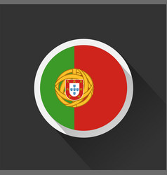 portugal national flag on dark background vector image