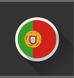 Portugal national flag on dark background vector
