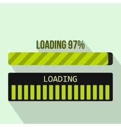 Progress loading bar icon flat style vector image
