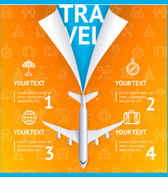 realistic 3d detailed travel and tourism concept vector image