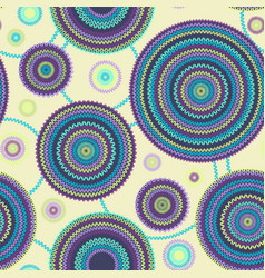 round geometric knitted pattern vector image