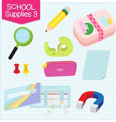 school supplies3 vector image