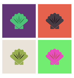 Sea turtle icon collection vector