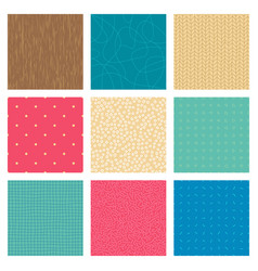 Set abstract handdrawn color seamless patterns vector