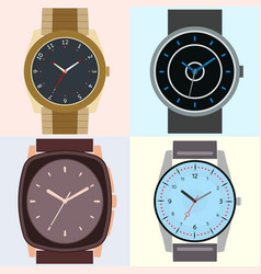 set of four watches vector image