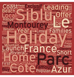 Siblu Makes COte D azur Affordale For Holiday Home vector image