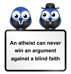 Sign atheist three vector