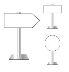 Signboard set vector
