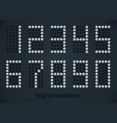 silver dotted numbers digital picture for vector image vector image